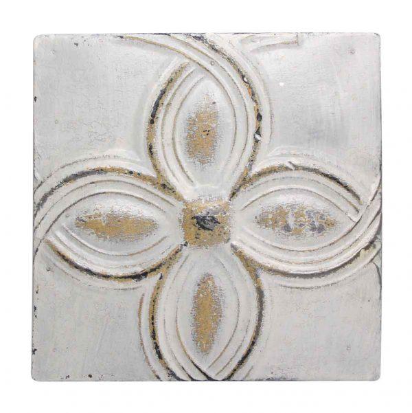 Decorative White & Cream Tin Panel