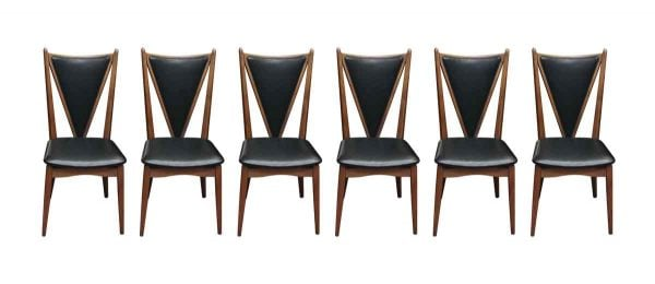 Set of Six Mid Century Stakmore Dining Chairs