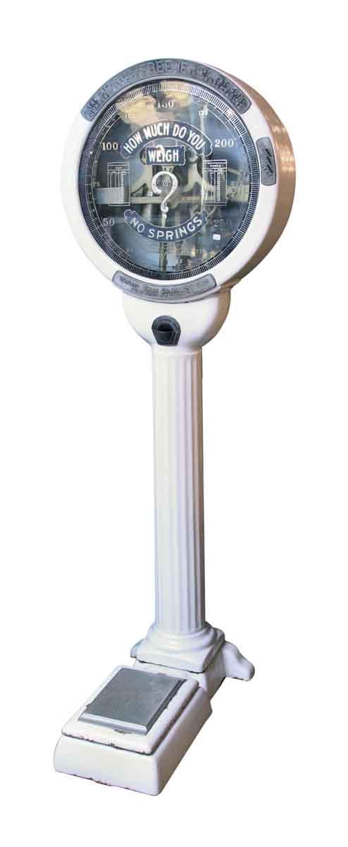 White Enamel Cast Iron Lollipop Scale