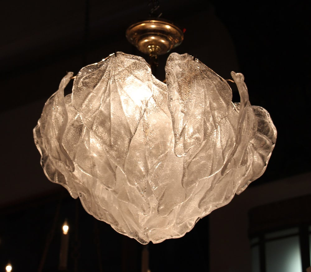 New collection of mid century chandeliers olde good things barovier murano glass leaf chandelier arubaitofo Images