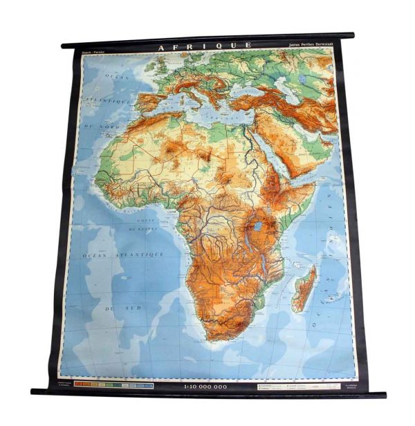 French Map of Africa - Globes & Maps
