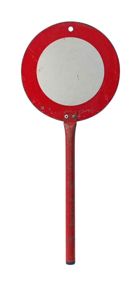 Petite French Handheld Traffic Sign - Vintage Signs