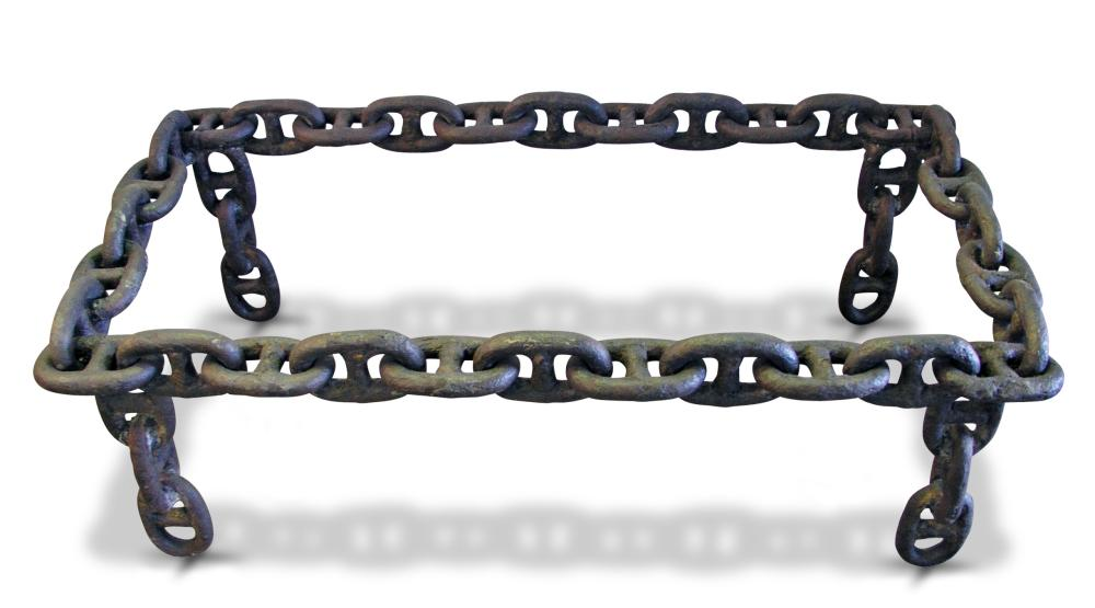 Altered antiques the missing link with boat anchor chain