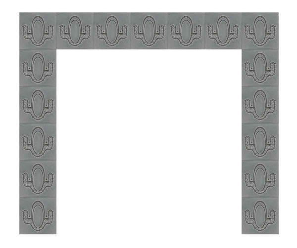 Gray Helman Tile Surround Set - Fireplace Surrounds