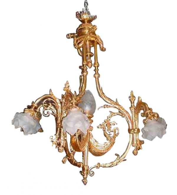 French Bronze Drop Light Chandelier - Chandeliers