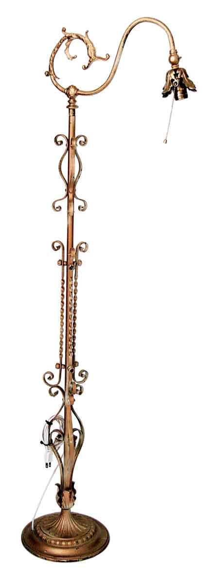 Ornate Brass Floor Lamp