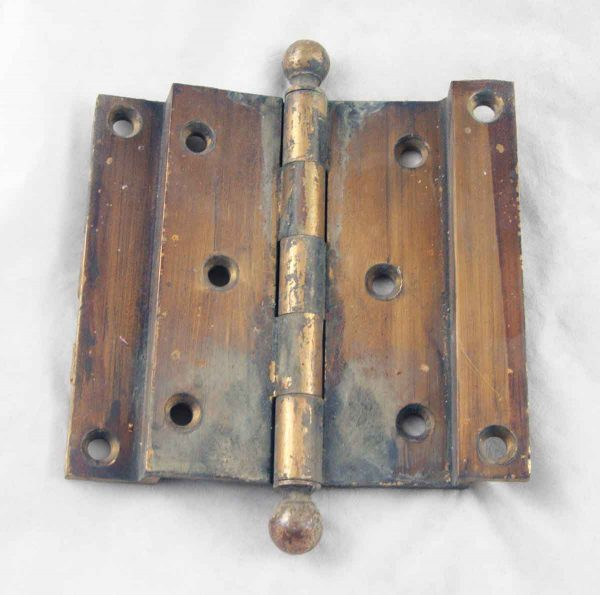 Brass Door Hinge With Ball Tip Finials