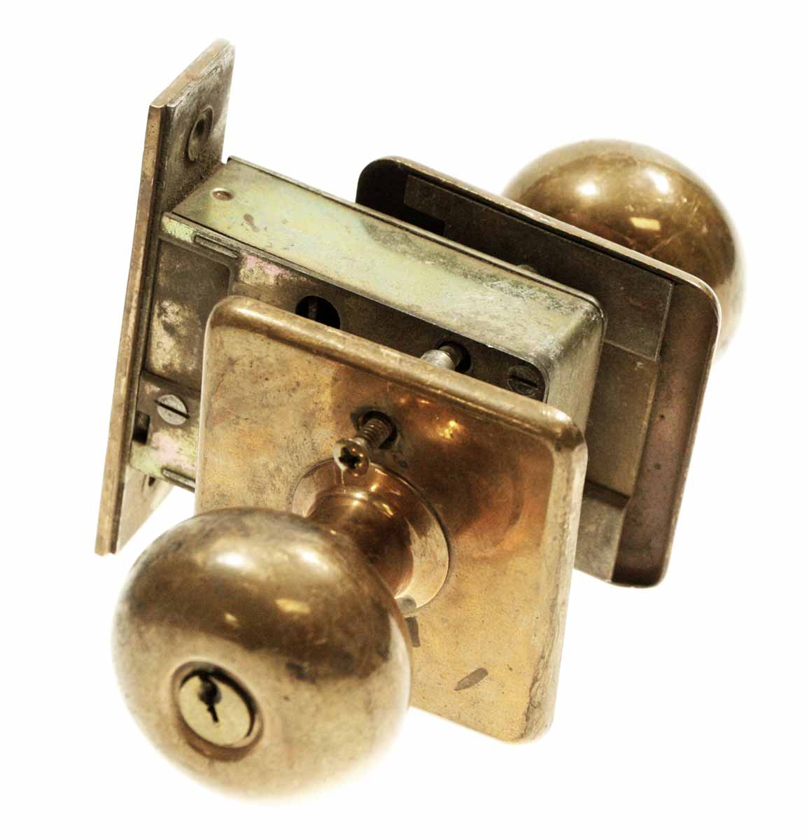 Sargent Copper Plated Unit Lock Olde Good Things