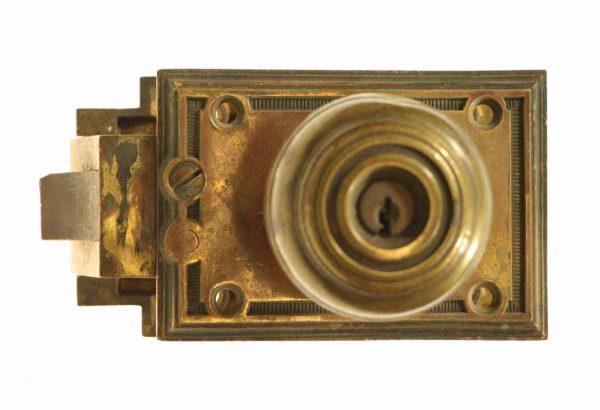 Art Deco Cast Bronze Unit Lock