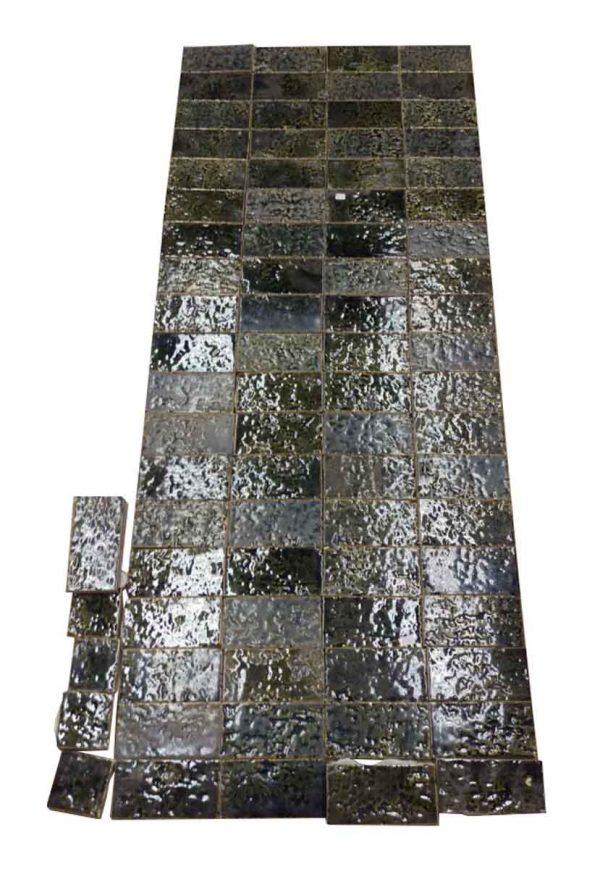 Antique Green Textured Floor Tile Lot - Floor Tiles