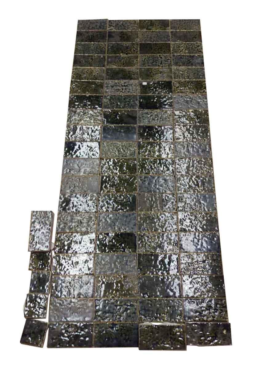 Antique Green Textured Floor Tile Lot