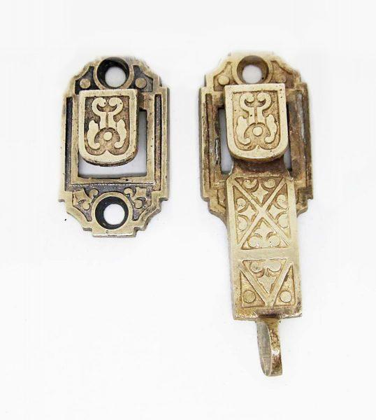Cast Iron Ornate Victorian Shutter Latch - Window Hardware