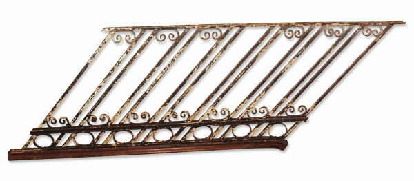 Over 100 Feet of Antique Wrought Iron Staircase Railing