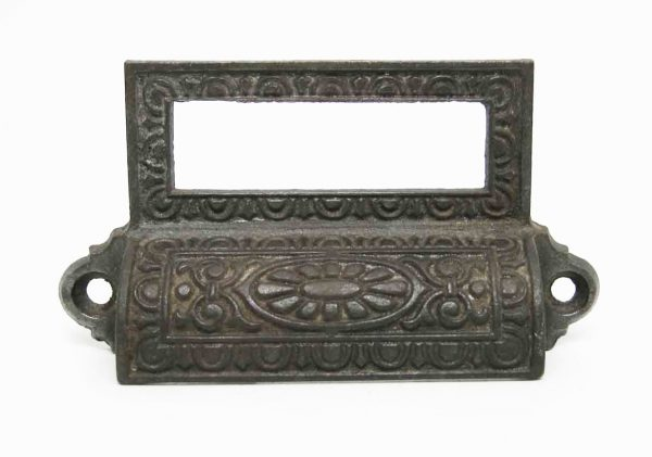 Antique Iron Pharmacy Drawer Pull - Cabinet & Furniture Pulls