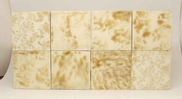 Set of 11 Off White & Tan Square Tiles