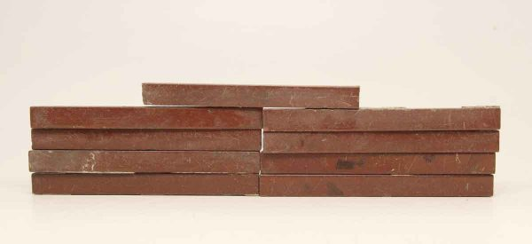 Set of Burgundy Pencil Border Tiles