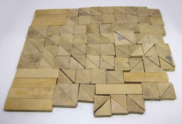 Assorted Tan Matted Tiles - Wall Tiles