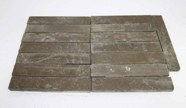 Set of 15 Brown Matted Tiles - Floor Tiles