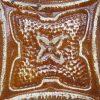 Light Brown Four Leaf Flower Tin Panel - Tin Panels