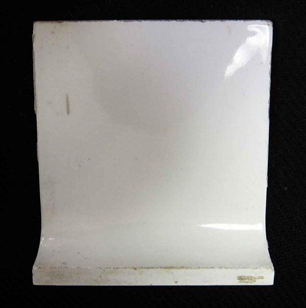 White Inside Curved Baseboard Tile - Bull Nose & Cap Tiles