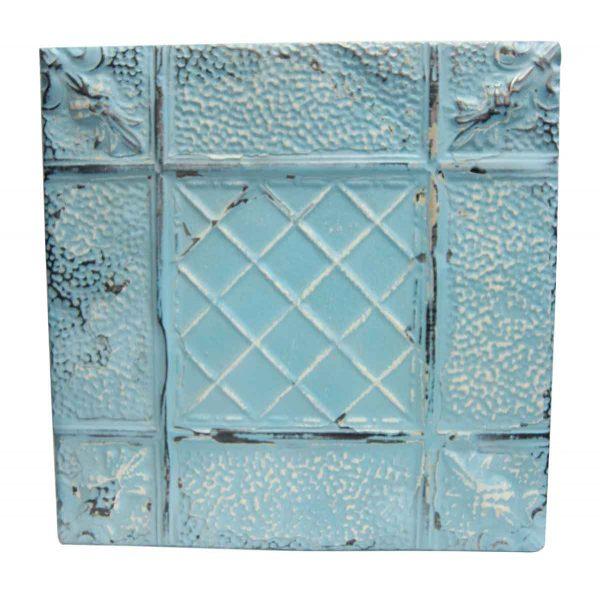 Sky Blue Textured Tin Panel - Tin Panels