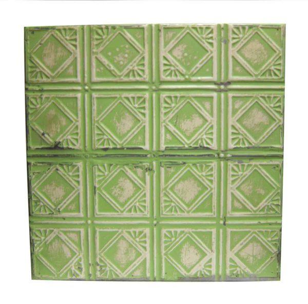 Light Green Art Deco Tin Panel - Tin Panels