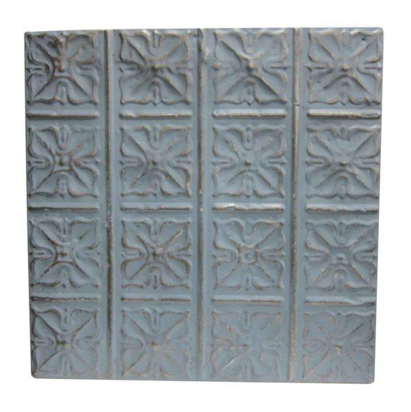 Gray Blue Tin Panel with Snowflake - Tin Panels