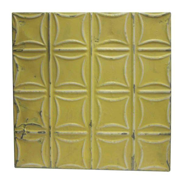 Yellow Curved Squares Tin Panel - Tin Panels