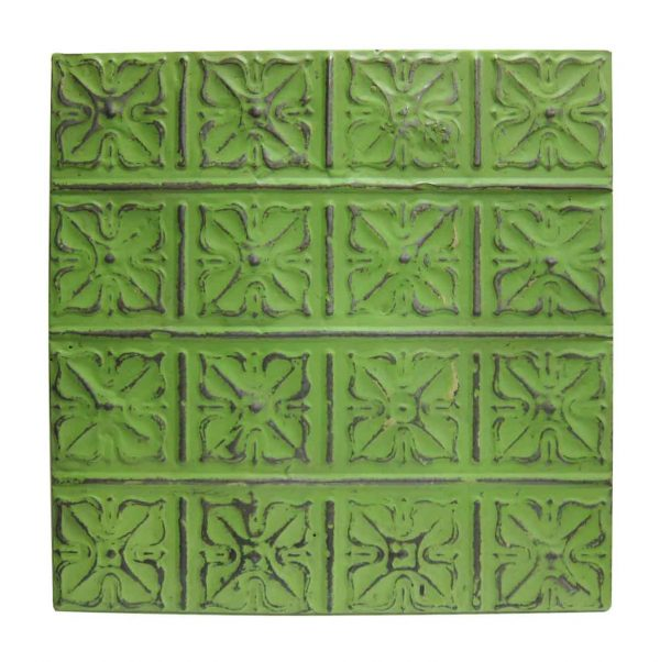 Light Green Snowflake Tin Panel - Tin Panels