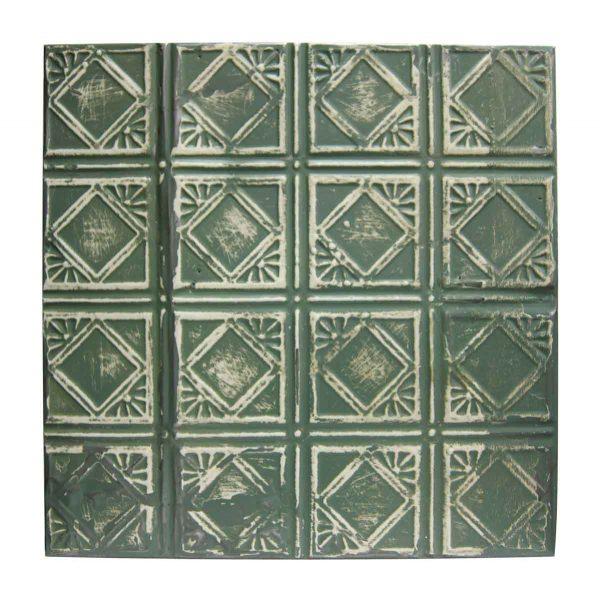 Green Art Deco Tin Panel - Tin Panels