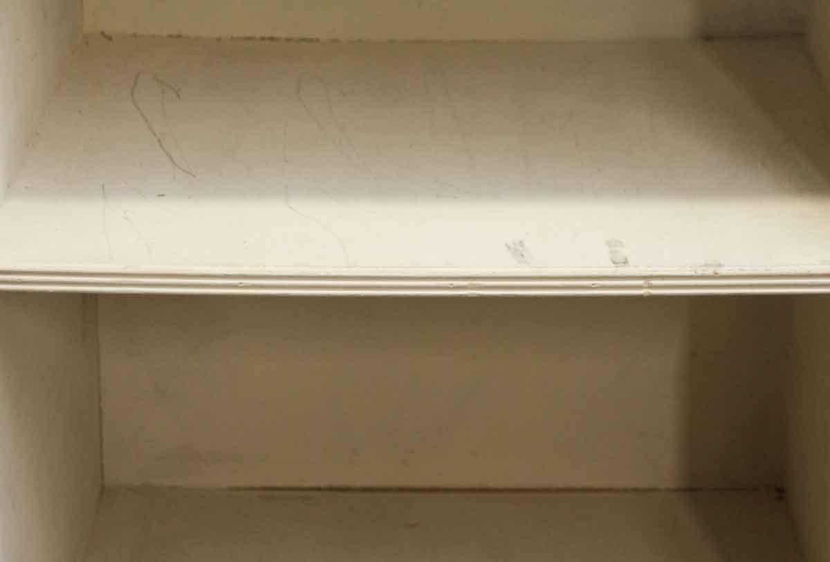 Plain White Wood Bookshelf With Deep Shelves