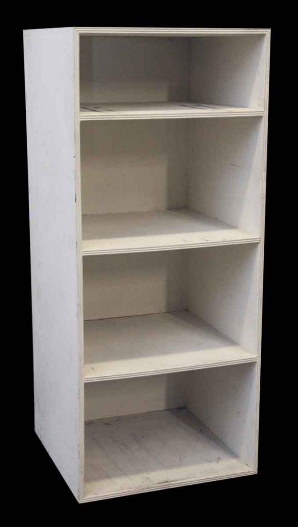 Plain White Wood Bookshelf