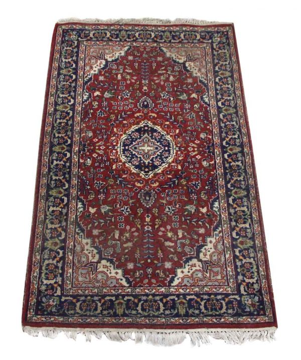 Oriental Rug with Red Center - Rugs & Drapery