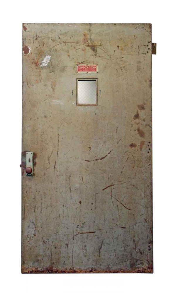 Steel Factory Door with Small Glass Panel - Commercial Doors