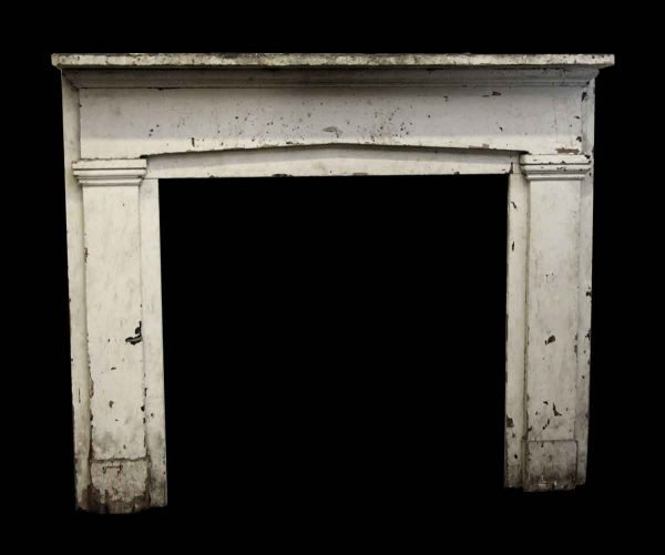 Simple Wooden Painted Mantel - Mantels