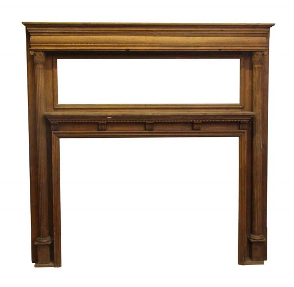 Two Tier Wide Victorian Mantel with Carved Detail - Mantels