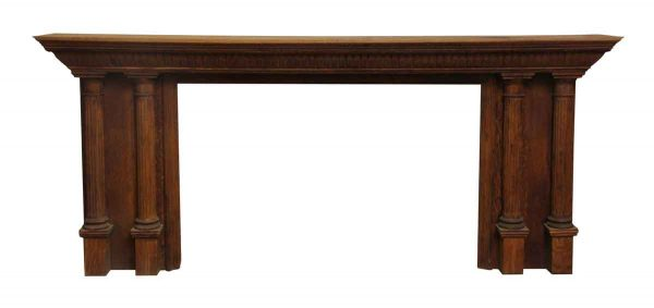 Extra Wide Tiered Top Double Column Mantel - Mantels