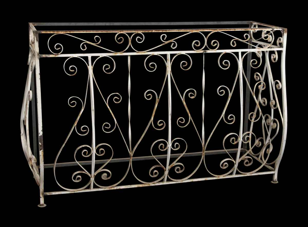 Wrought iron balcony console olde good things for Balcony console