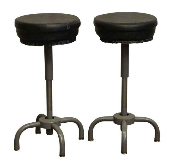 Black Seated Steel Stool - Seating