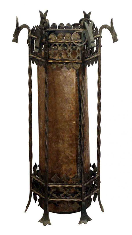Bronze Lantern with Griffin Motif - Wall & Ceiling Lanterns