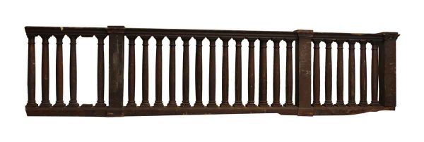 Arts & Crafts Balcony Railing with Big Beefy Spindles - Staircase Elements