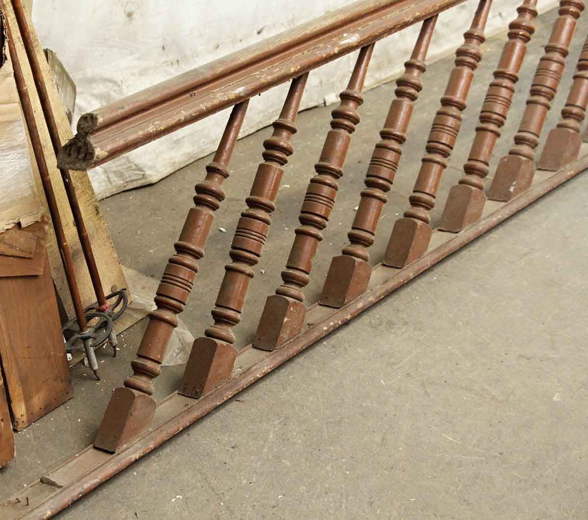 Wooden Stair Railing With Unusual Spindles