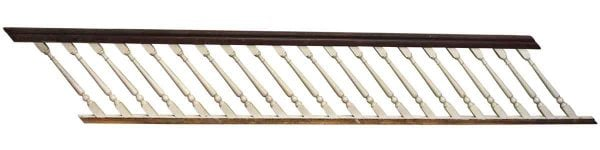 Twelve Foot Wooden Stair Railing - Staircase Elements
