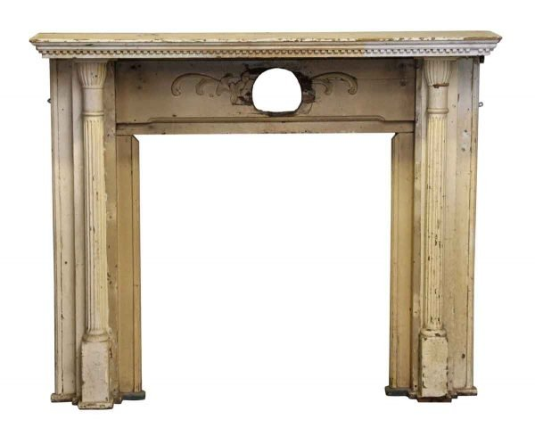 Antique Wooden Turn of the 20th Century Mantel - Mantels