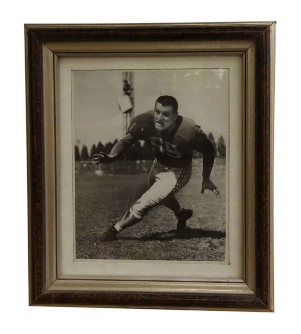 Metal Framed Boston University Football Portrait - Photographs