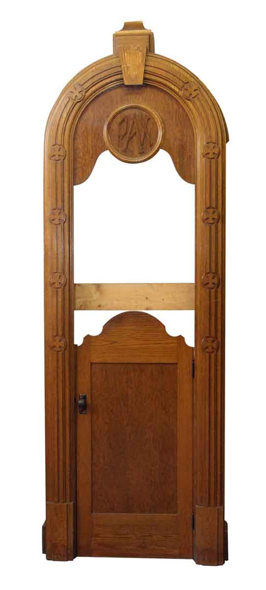 Large Oak Confessional Door - Specialty Doors
