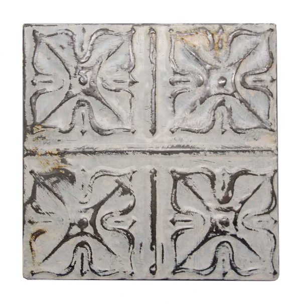Decorative White Four Leaf Tin panel - Tin Panels
