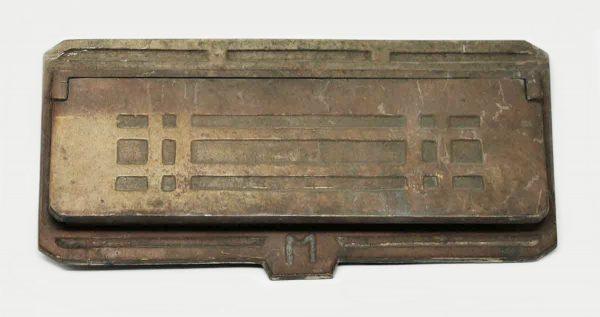 Deco Bronze Mail Slot - Mail Hardware