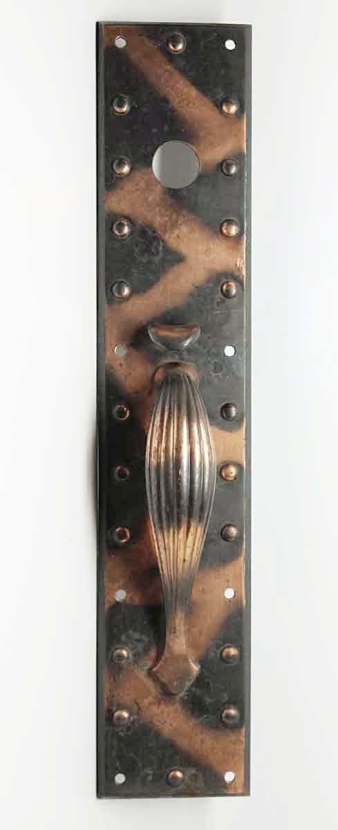 Copper Washed Bronze Studded Door Pulls - Door Pulls