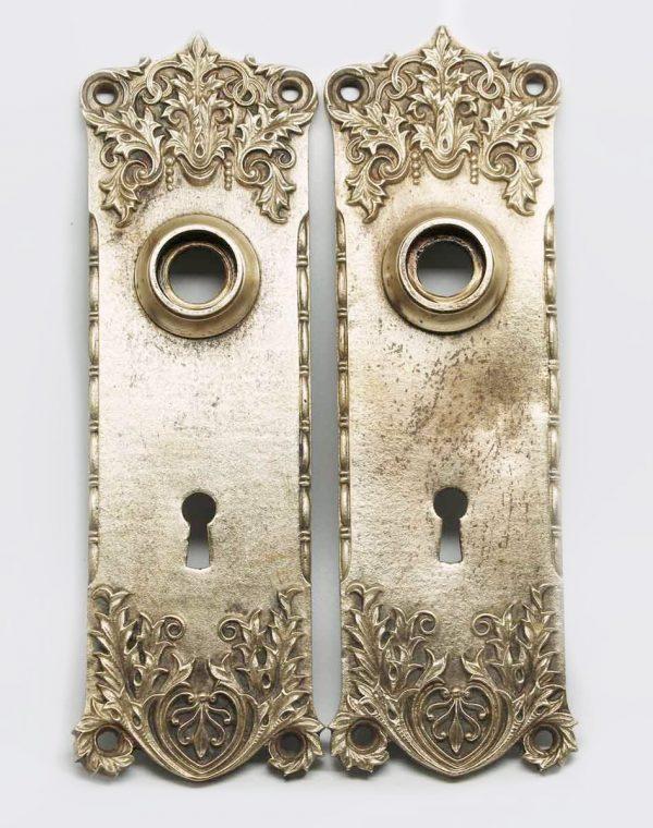 Pair of Bronze Door Plates - Back Plates